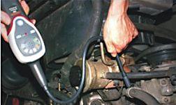 Detector de gas refrigerante utilizando en un sistema de aire acondicionado.