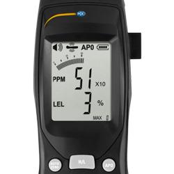 Pantalla del detector de gases combustibles PCE-GA 12