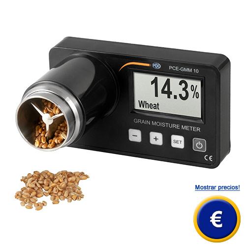 Más información acerca del detector de humedad de cereales PCE-GMM 10