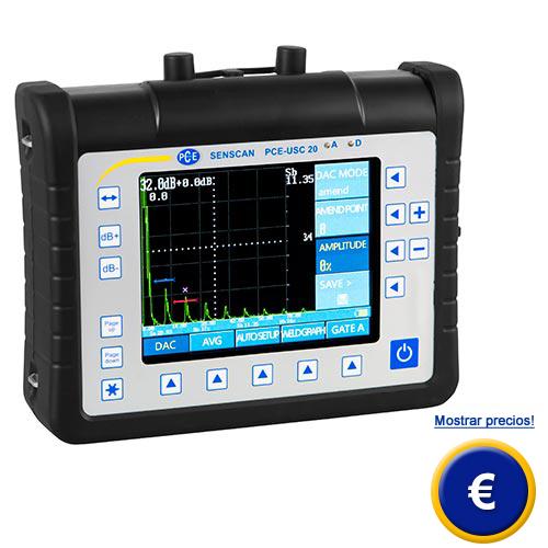Más información sobre el detector de fallas por ultrasonido PCE-USC 20