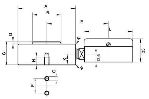 Nuestro dinamómetro hidráulico y sus dimensiones