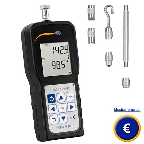 Más información acerca del dinamómetro PCE-FM 200
