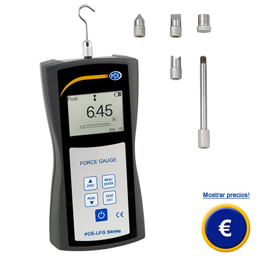 Más información acerca del dinamómetro de precisión serie PCE-LFG