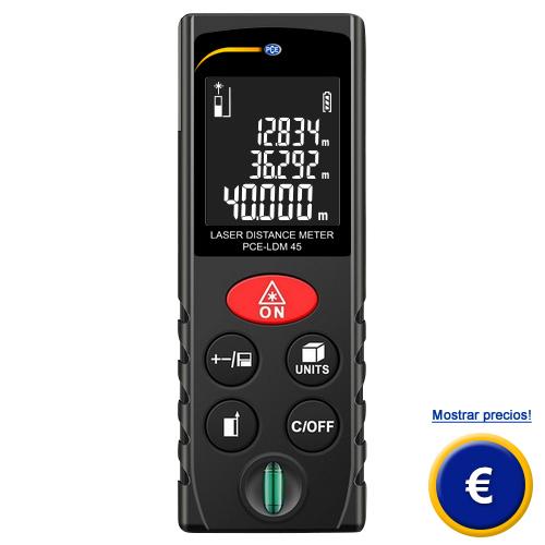Más información acerca del distanciometro PCE-LDM 45