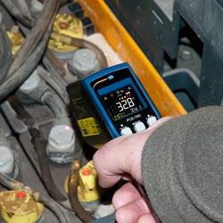Medición de temperatura de una batería
