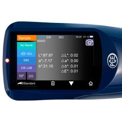 Pantalla del espectrómetro de rejilla PCE-CSM 2x