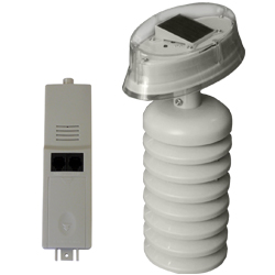 Sensor de temperatura y humedad con transmisor y módulo solar