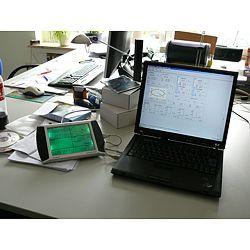 Estación meteorológica conectada a un PC con el software