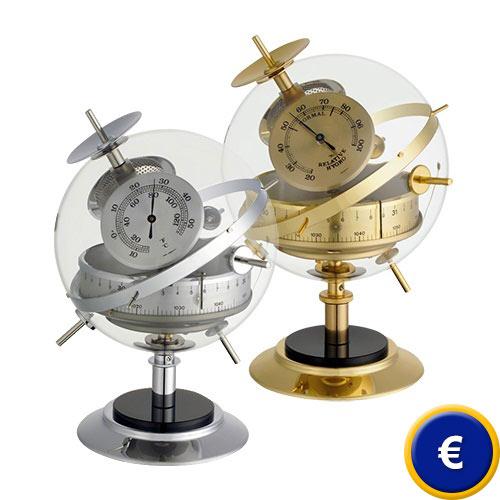 114234822 Estación meteorológica Sputnik en latón o en acero inoxidable. - Para  interior (barómetro, termómetro,