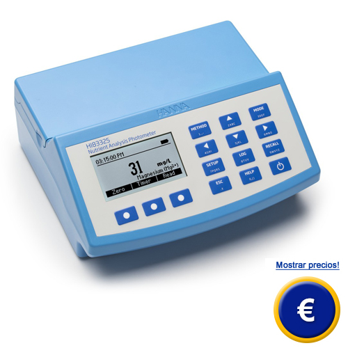 Más información acerca del fotometro multifuncion HI 83325