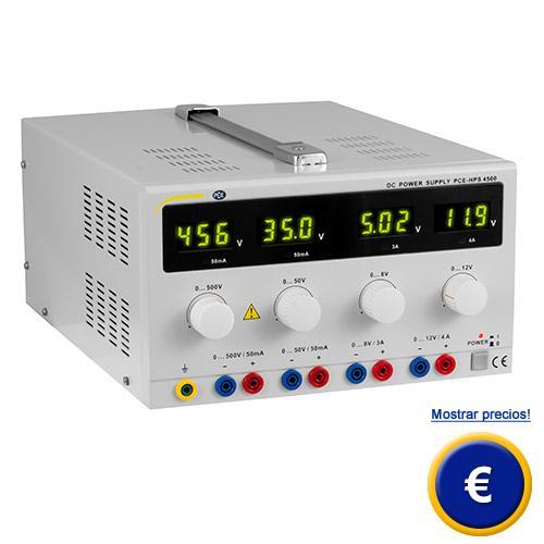 Más información sobre la fuente de alimentacion de laboratorio PCE-HPS 4500