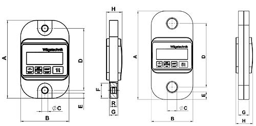 Dibujo técnico de la grúa de carga TZL