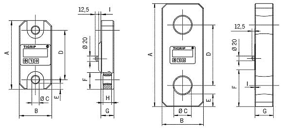 Dibujo técnico de la grúa de carga TZR