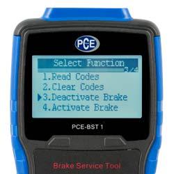 Desactivador electrónico de frenos con pantalla LC de fácil lectura