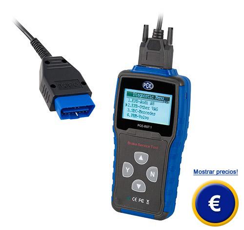 Más información acerca de la herramienta electrónica del servicio de frenos PCE-BST 1