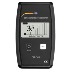Vista frontal del indicador de humedad de materiales para edificios PCE-PMI 4