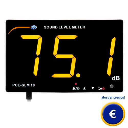Más información sobre el indicador de ruido PCE-SLM 10