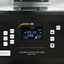 Pantalla de la máquina de ensayo motorizada de tracción y compresión PCE-VTS 50