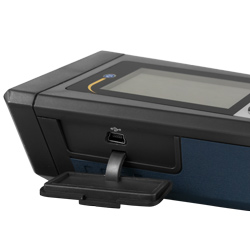 Se pueden transferir de forma continua los datos a través del puerto USB del medidor de aire