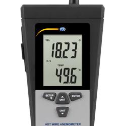 Medidor de aire PCE-423 con pantalla LCD
