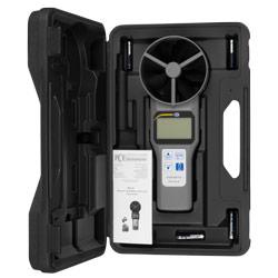 Contenido del envío del medidor de aire de rueda alada PCE-VA 20