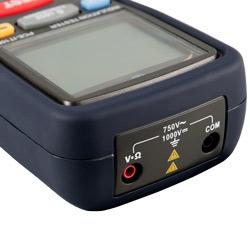 Conexiones eléctricas del medidor de aislamiento