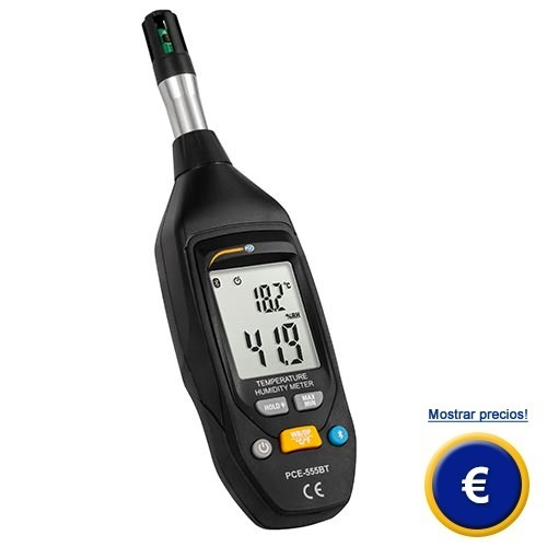 Más información sobre el medidor ambiental PCE-555BT.
