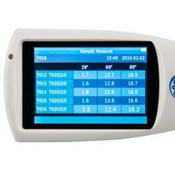 Pantalla retroiluminada del medidor de brillo PCE-PGM 100
