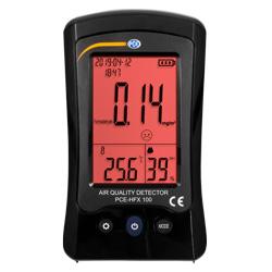 La pantalla del medidor de calidad del aire en estado de alarma