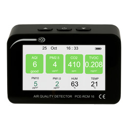 Pantalla del medidor de calidad de aire PCE-RCM 16