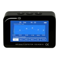 Indicación gráfica del medidor de calidad de aire PCE-RCM 16