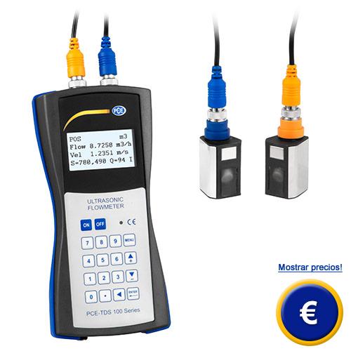 Medidor de caudal para líquidos por ultrsonido PCE-TDS 100H