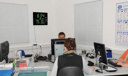 El medidor de CO2 PCE-AC 4000 es ideal para el uso en oficinas