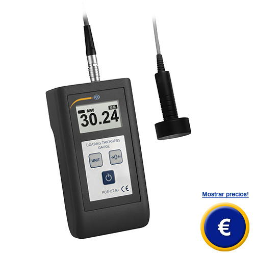 Más información acerca del medidor de espesores de capas PCE-CT 90