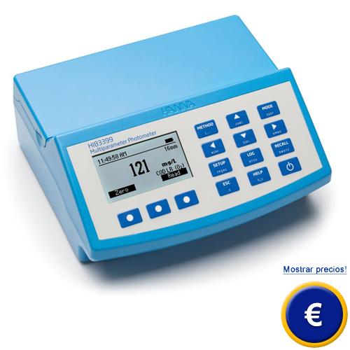 Más información acerca del medidor fotométrico multifunción DQO HI 83399