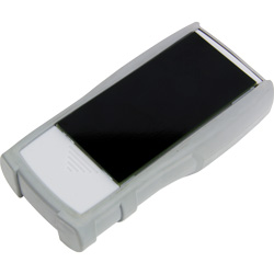 Aqui se aprecia la superficie negra del detector de humedad de papel.