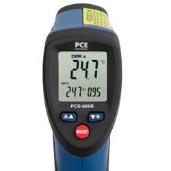 El medidor laser de temperatura dispone de una pantalla de fácil lectura.