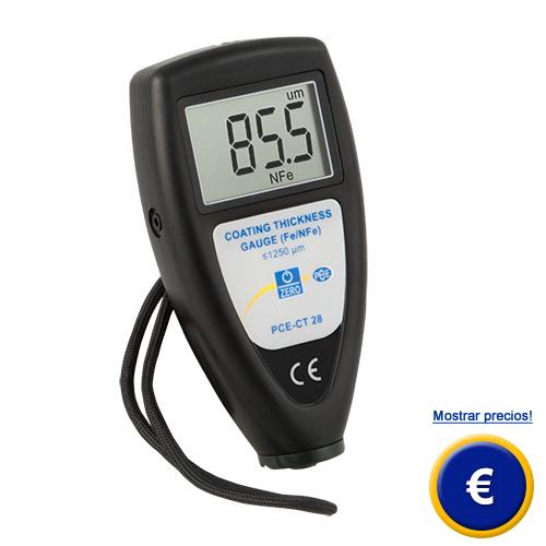 Más información acerca del medidor de micras PCE-CT 28