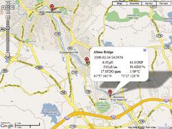 Visualización de posiciones de medición a través de Google Maps