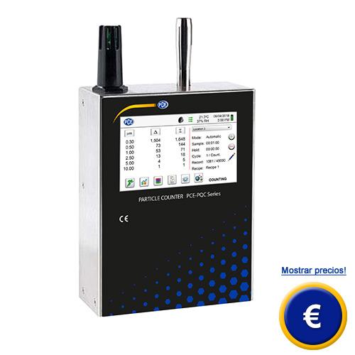 Más información sobre el medidor de partículas serie PCE-PQC 3xEU/US