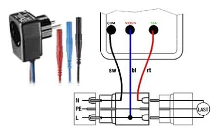 Adaptador de corriente para el analizador de potencia PCE-PA6000