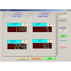 Software para el analizador de potencia PCE-PA6000.