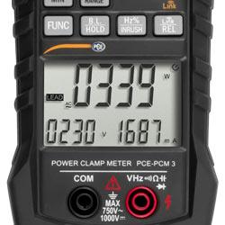 Pantalla del medidor de potencia de pinza PCE-PCM 3