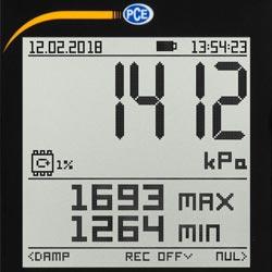 Pantalla del medidor de presión relativa
