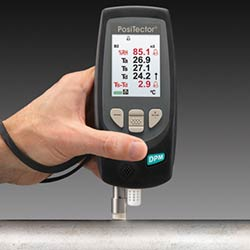 Medidor del punto de rocío PT-DPM con sensor de temperatura superficial integrado e indicación de alarma