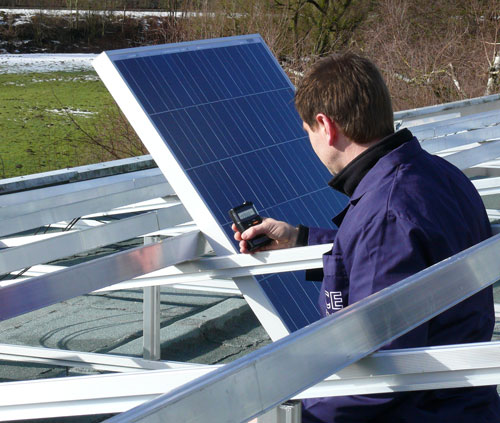 Panel de celulas fotovoltaicas.