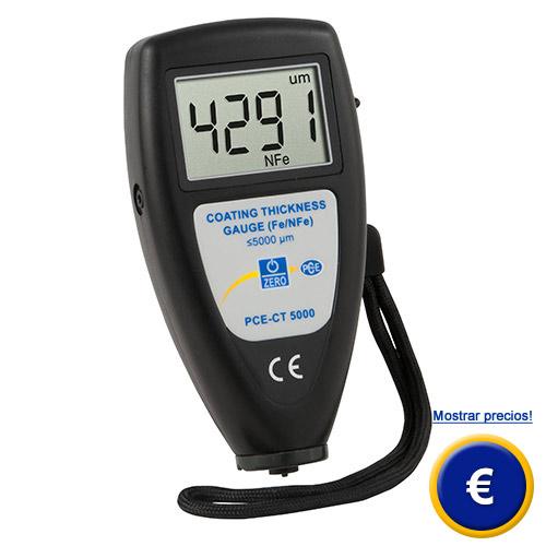 Más información acerca del medidor de recubrimiento PCE-CT 5000