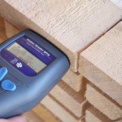 Gracias a las medidas de la pantalla del medidor de resistencia de madera, podr� consultar los resultados c�modamente