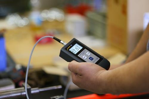 Vista general del medidor de revestimiento PCE-CT 90.