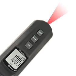 La pantalla del medidor de revoluciones gira automáticamente en 180º, según si la medición es óptica o por contacto.